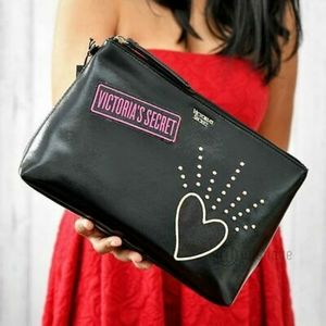 NWT Victoria's Secret Patch Beauty Bag